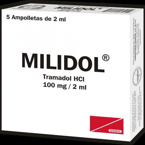 Milidol Ampolla Inyectable 100 mg / 2 ml caja x5