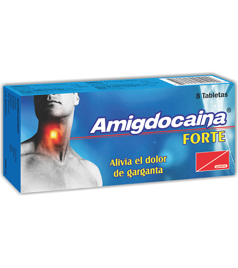 Amigdocaina Forte Tableta para Chupar caja x8