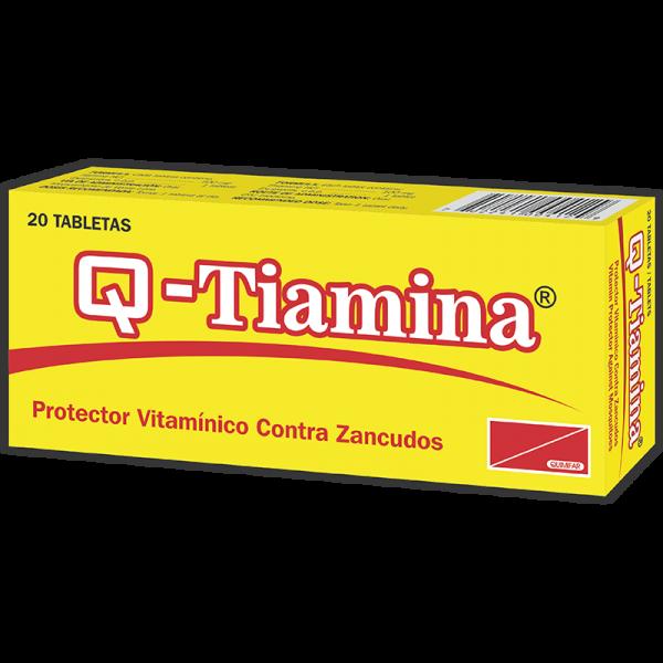 Q-Tiamina Tableta 100 mg caja x20