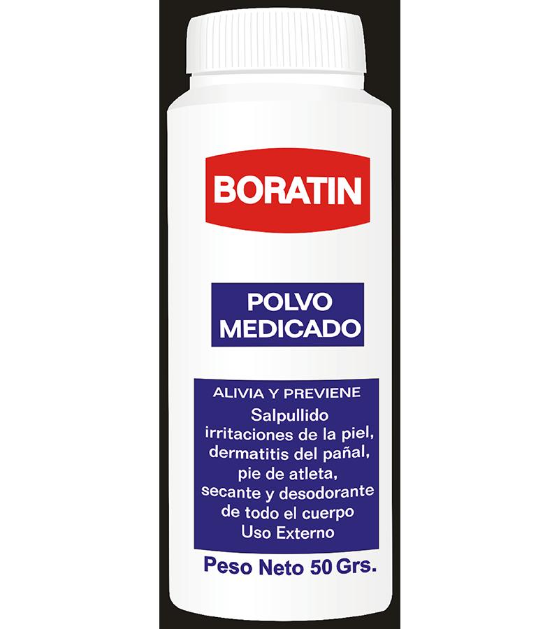 Boratin Talco Medicado frasco 50 g