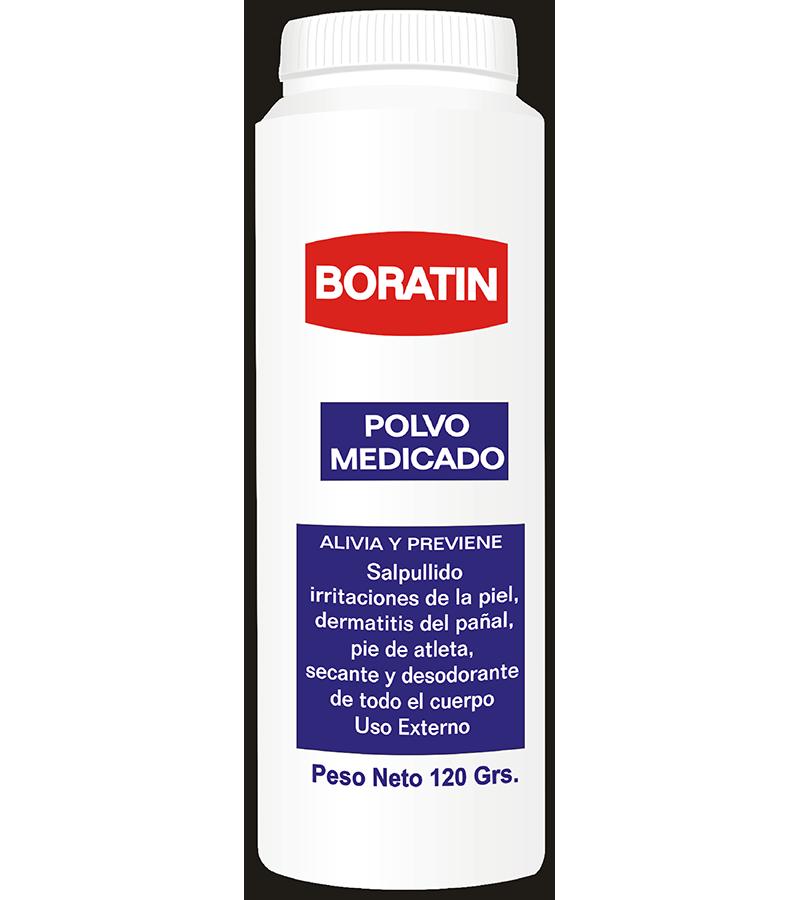 Boratin Talco Medicado frasco 120 g