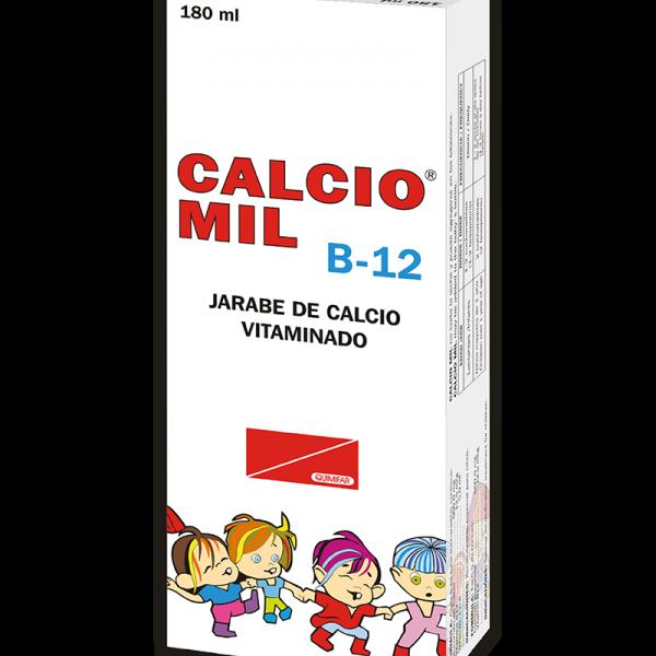 Calcio Mil B-12 Jarabe frasco 180 ml