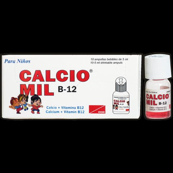 Calcio Mil B12 para Niños Ampolla Bebible 5 ml caja x10