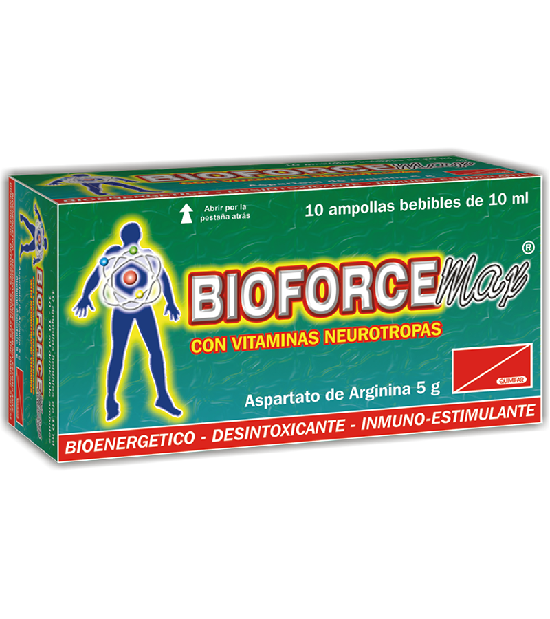 Bioforce Max Ampolla Bebible caja x10