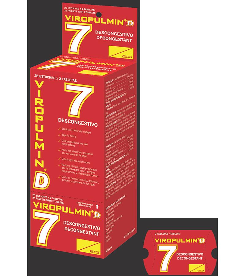 Viropulmin D Dispensador 25 estuches x2 tabletas c/u