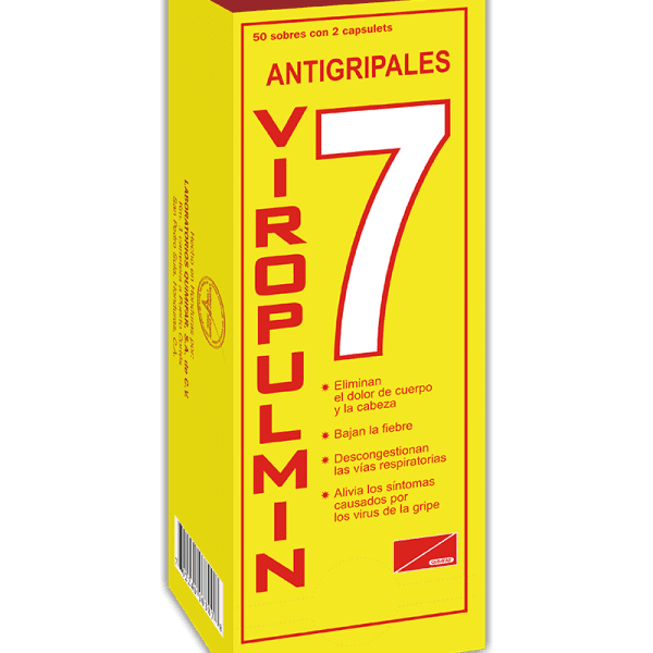 Viropulmin Dispensador 50 sobres x2 tabletas c/u
