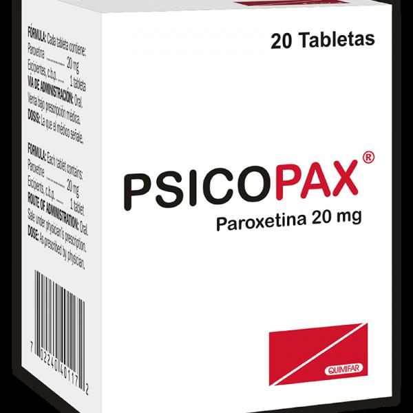 Psicopax Tableta 20 mg caja x20