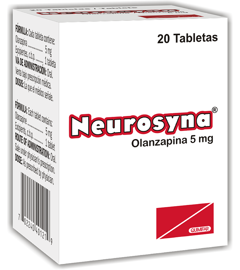 Neurosyna Tableta 5 mg frasco x20