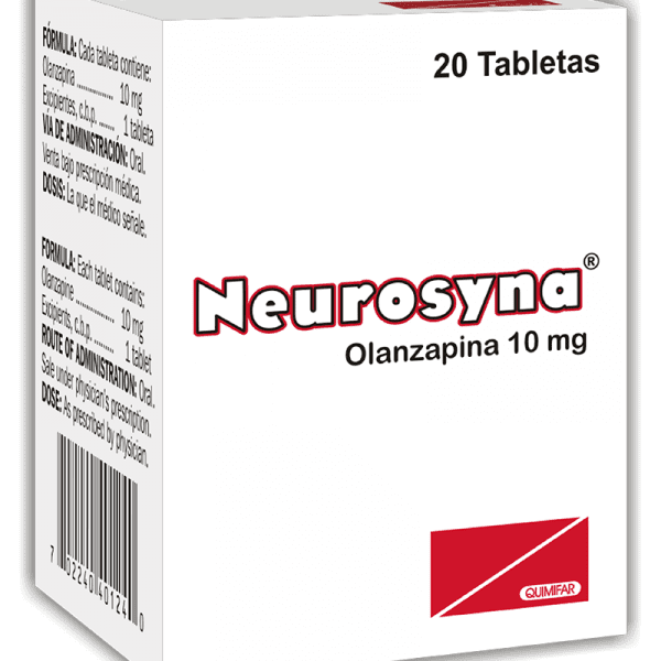 Neurosyna Tableta 10 mg frasco x20
