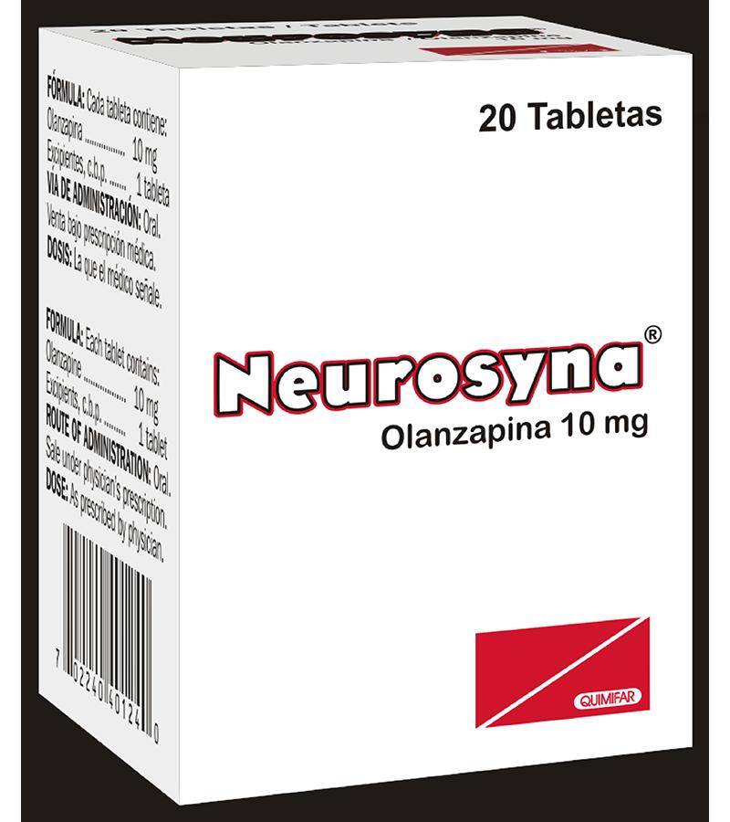 Neurosyna Tableta 10 mg frasco x20