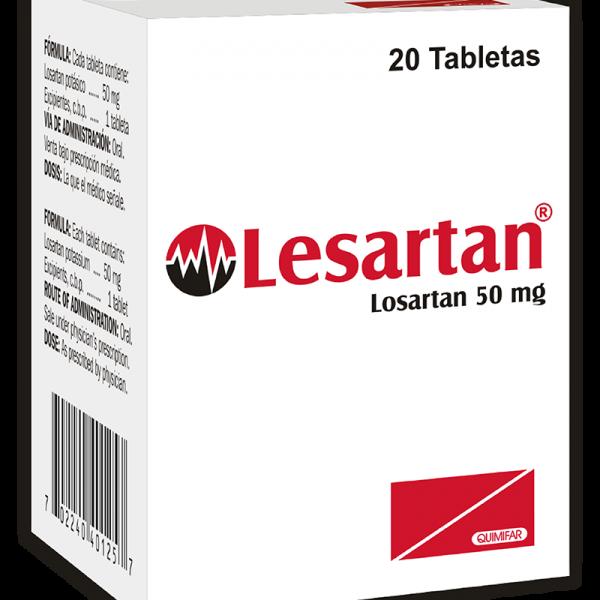 Lesartan Tabletas 50 mg caja x20