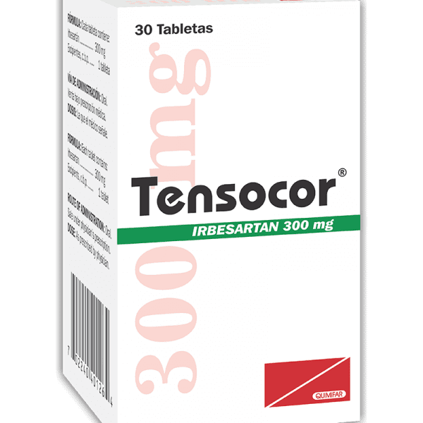 Tensocor Tableta 300 mg caja x20