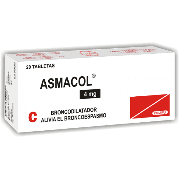 Asmacol Tableta 4 mg caja x20