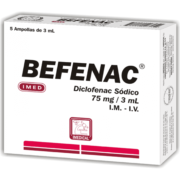 Befenac Ampolla Inyectable 75 mg caja x5