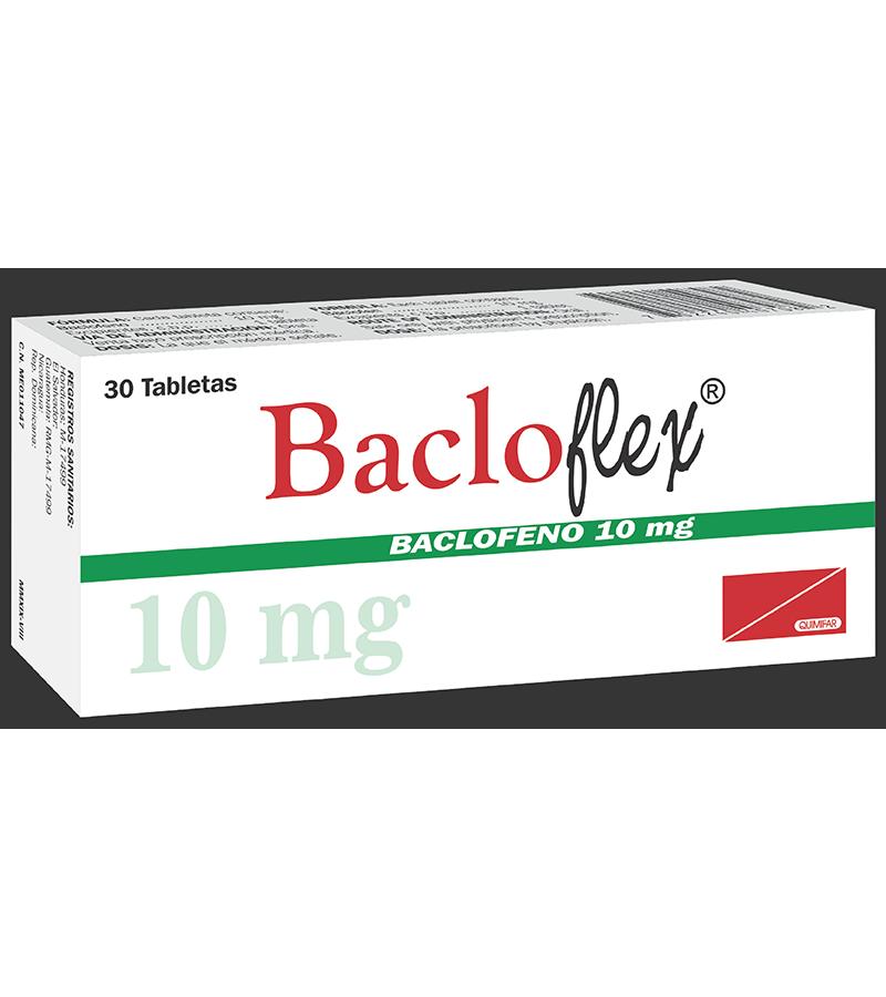 Bacloflex Tabletas 10 mg frasco x30