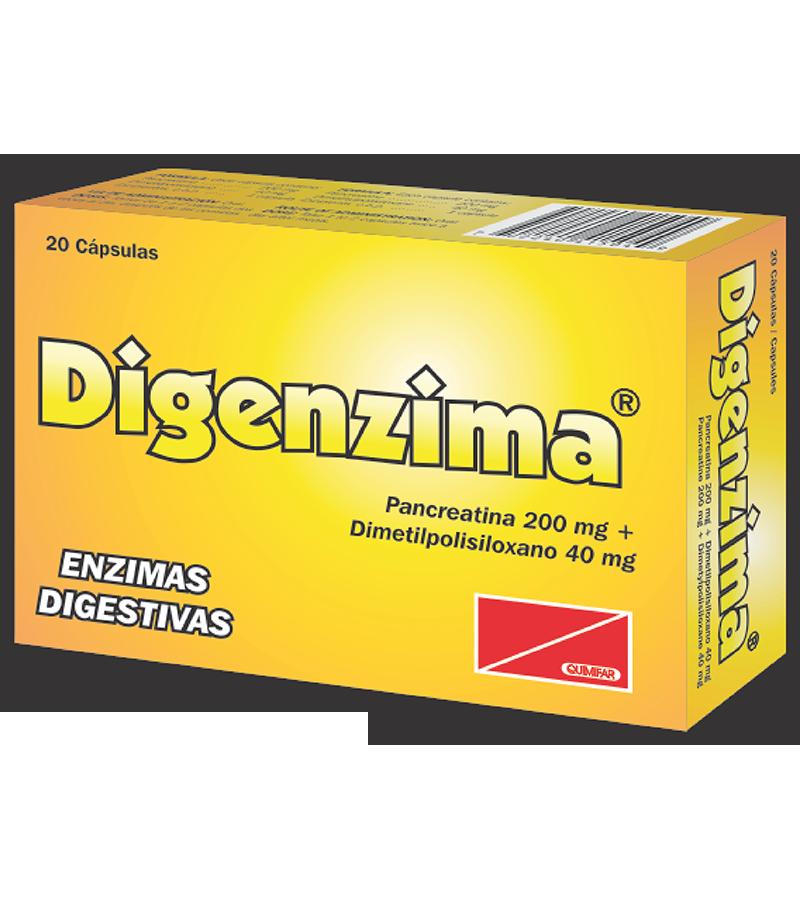 Digenzima Capsula 200 mg caja x20