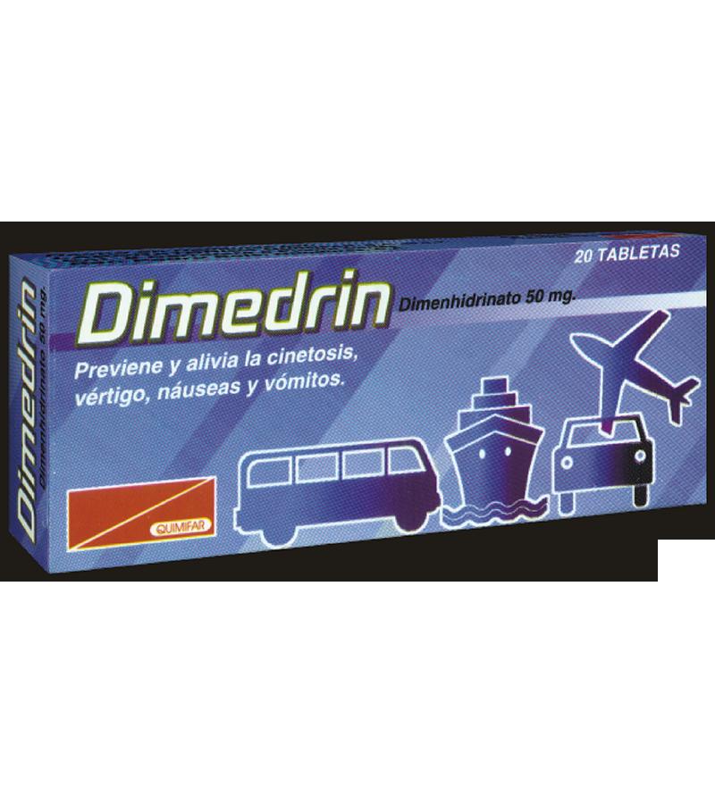 Dimedrin Tabletas 50 mg caja x20