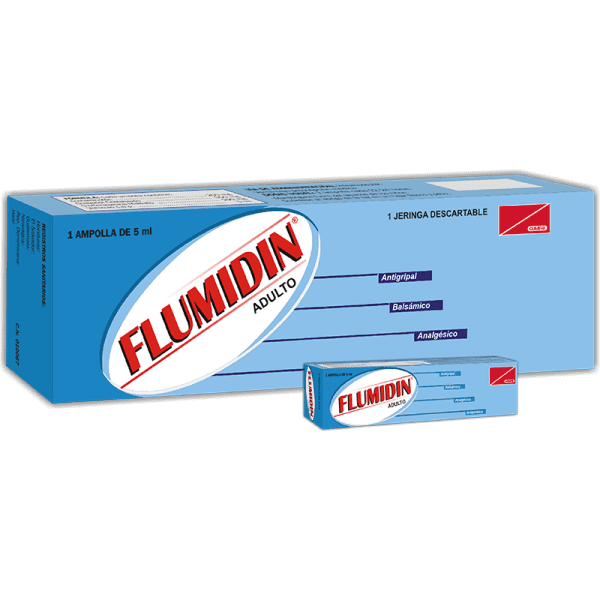 Flumidin Adulto Ampolla Inyectable 5 ml caja x1