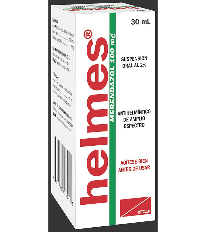 Helmes Suspension 100 mg / 5 ml frasco 30 ml