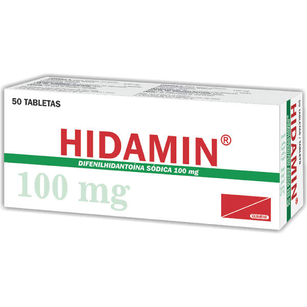 Hidamin Tabletas 100 mg caja x50