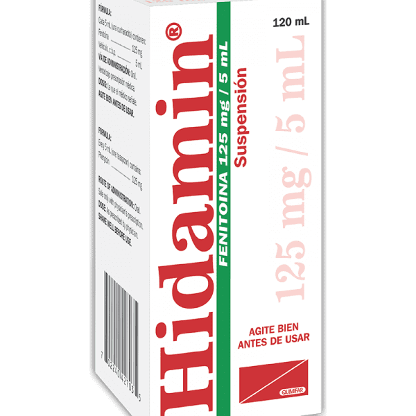 Hidamin Suspension 125 mg / 5 ml frasco 120 ml