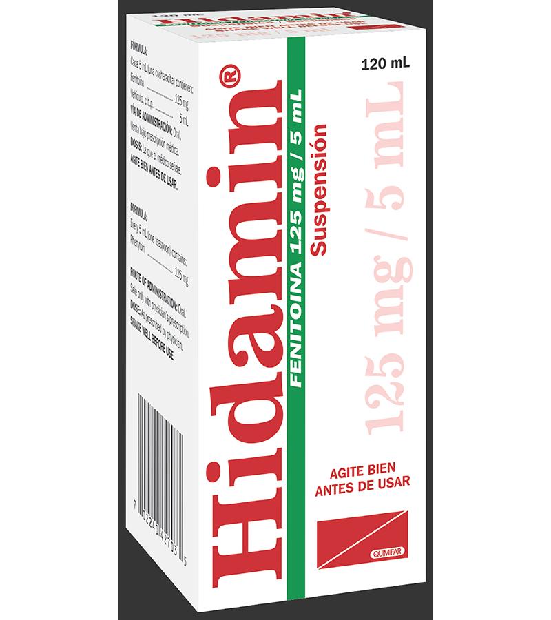 Hidamin Suspension 125 mg / 5 ml frasco 120 ml