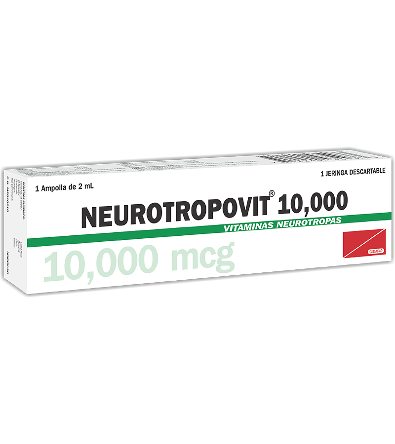 Neurotropovit Ampolla Inyectable 10000 mcg / 2 mlcaja x1