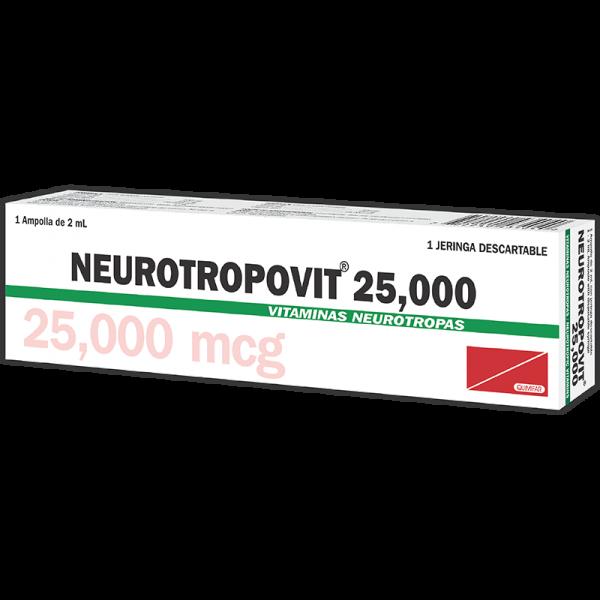 Neurotropovit Ampolla Inyectable 25000 mcg / 2 ml caja x1