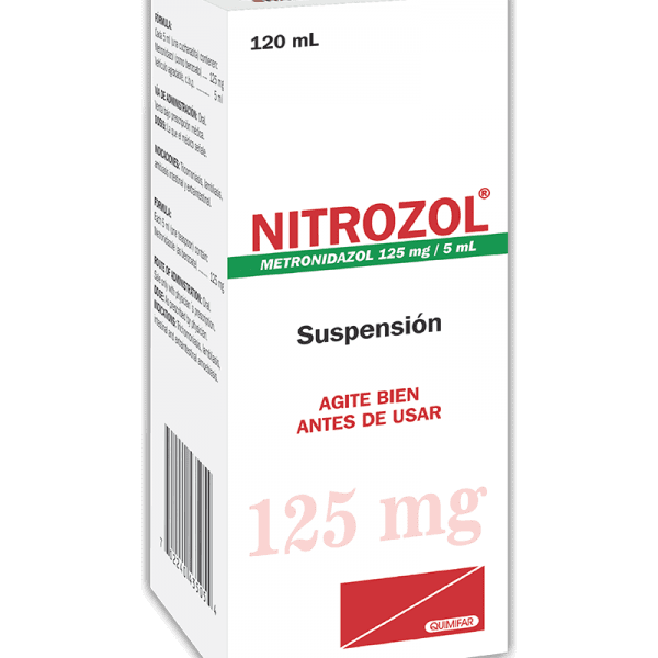 Nitrozol Suspension 125 mg / 5 ml frasco 120 ml