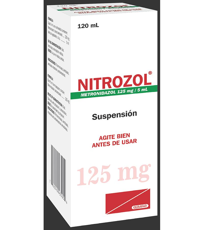 Nitrozol Suspension 125 mg / 5 ml frasco 120 ml