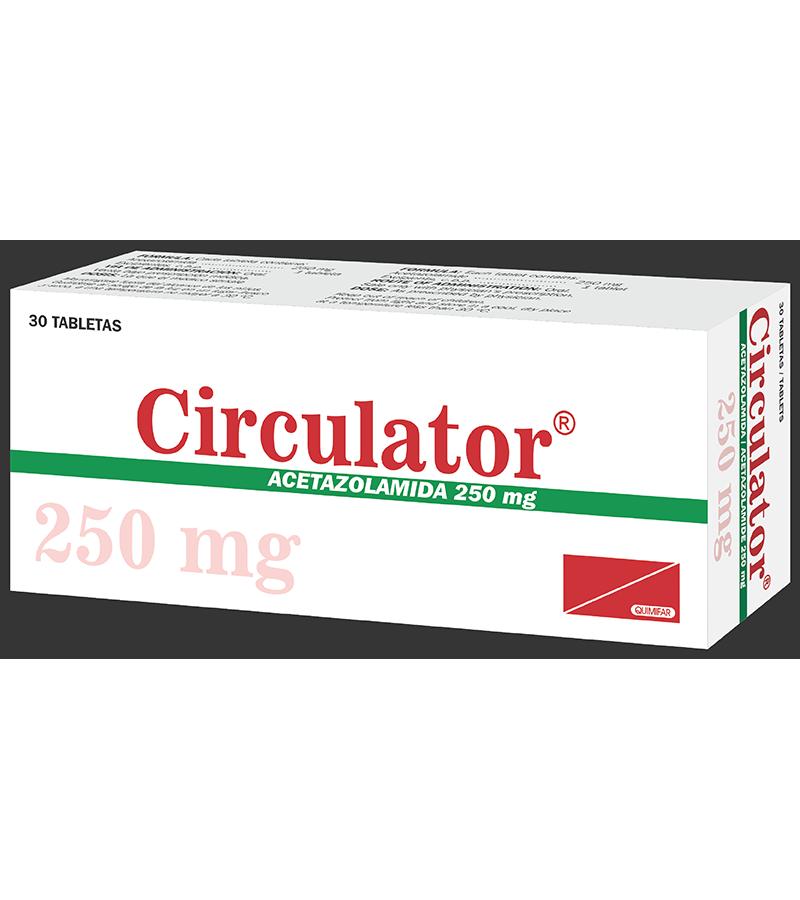 Circulator Tabletas 250 mg Caja x30