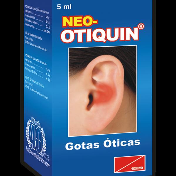 Neo-Otiquin Gotas Oticas frasco 5 ml