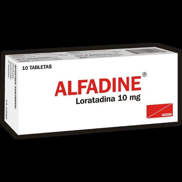 Alfadine Tableta 10 mg caja x10