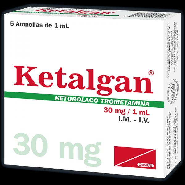 Ketalgan Ampolla Inyectable 30 mg caja x5