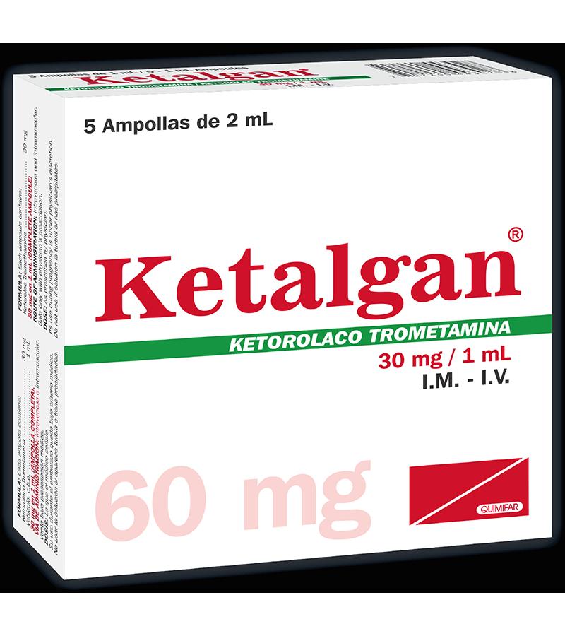 Ketalgan Ampolla Inyectable 60 mg caja x5