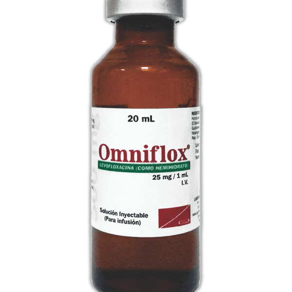Omniflox Vial Inyectable 25 mg / 1 ml  frasco ampula 20 ml
