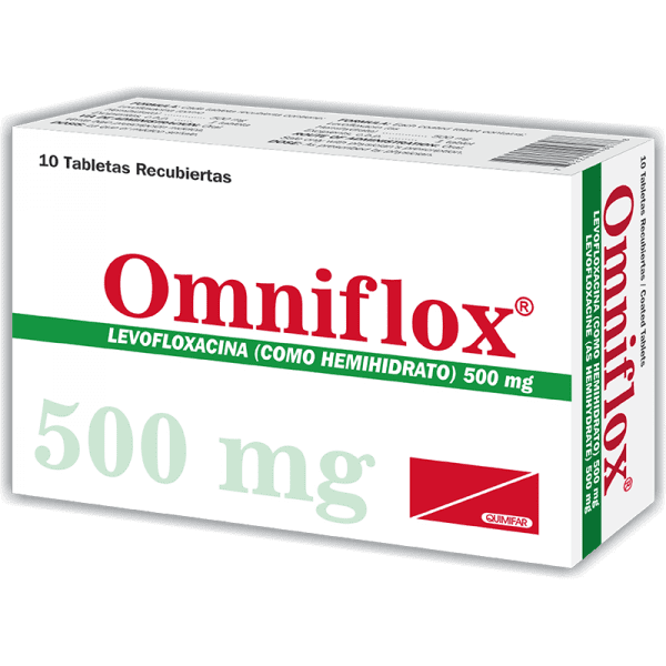 Omniflox Tableta 500 mg caja x10