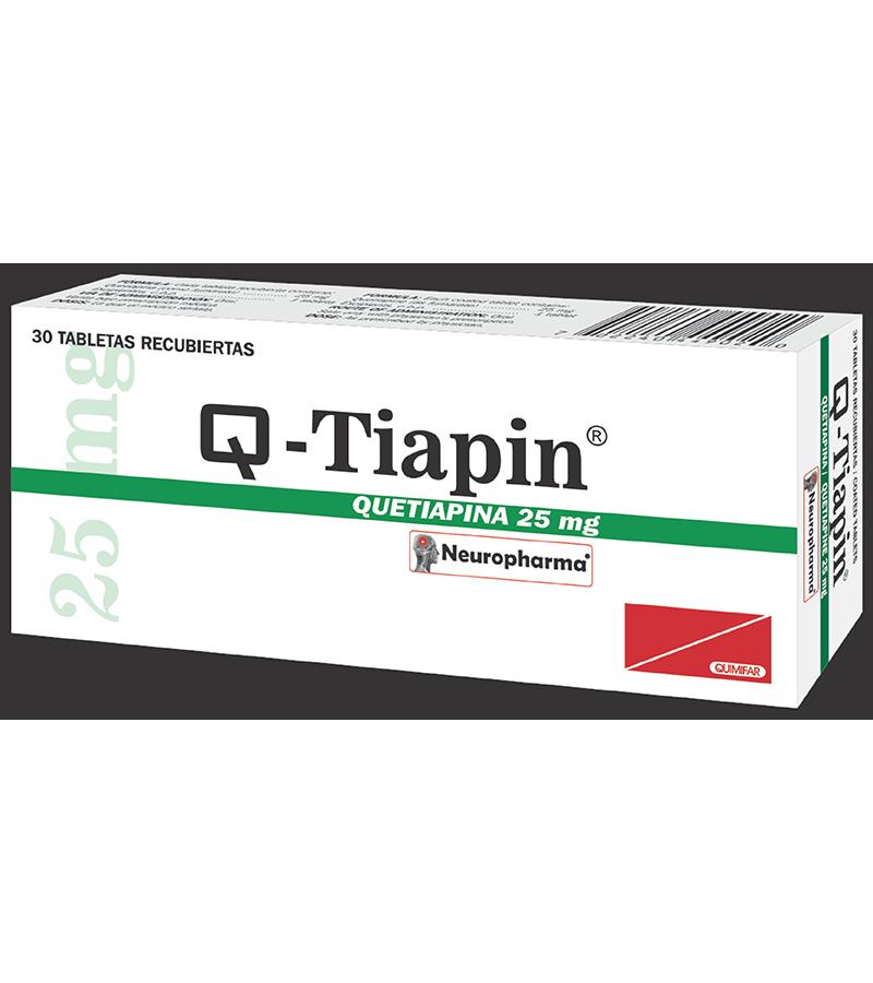Q-Tiapin Tableta 25 mg caja x30