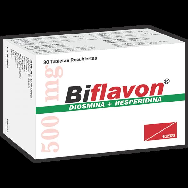 Biflavon Tableta Recubierta 500 mg caja x30