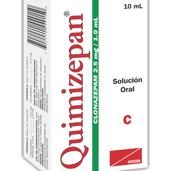 Quimizepan Gotas 2.5 mg / 1 ml frasco 10 ml