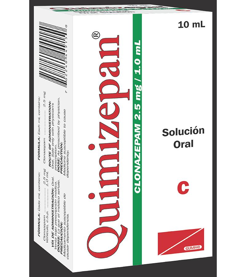 Quimizepan Gotas 2.5 mg / 1 ml frasco 10 ml
