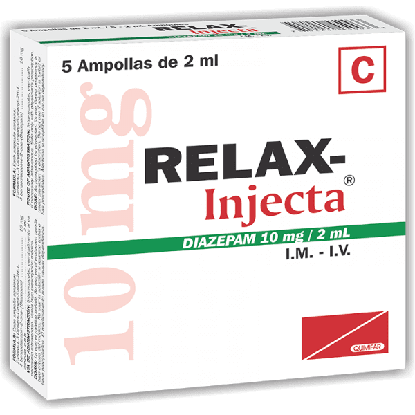 Relax-Injecta Ampolla Inyectable 10 mg / 2 ml caja x5