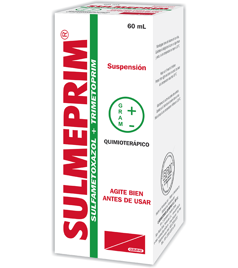 Sulmeprin Suspension Oral 40/200 mg frasco 60 ml