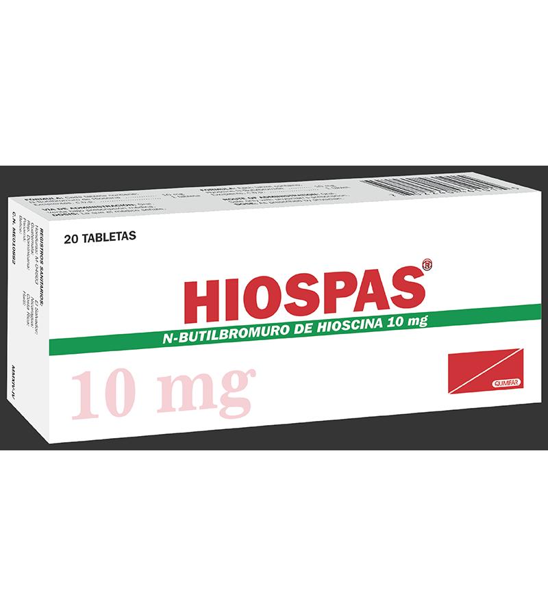 Hiospas Tabletas 10 mg caja x20