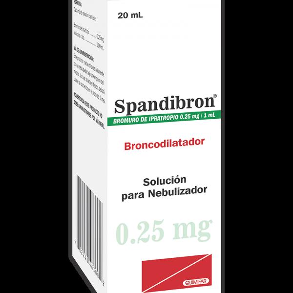 Spandibron Solucion para Nebulizador 0.25 mg / 1 ml frasco 20 ml