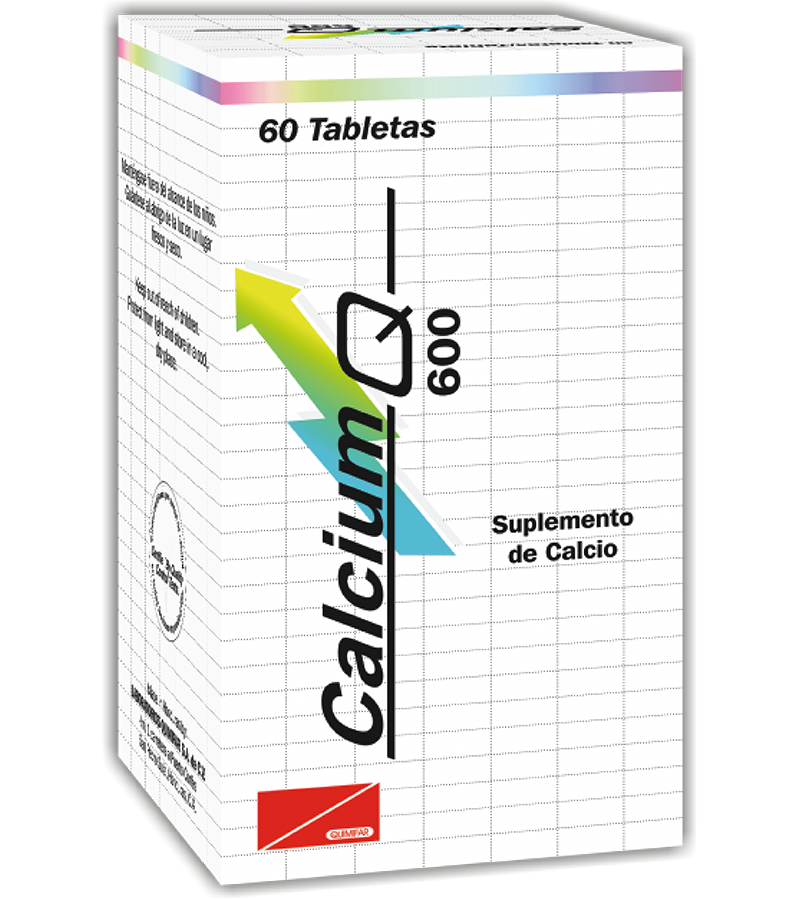 Calcium Q Tableta 600 mg frasco x60