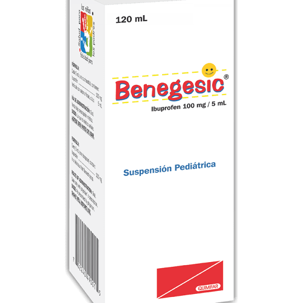 Benegesic Suspension Pediatrica frasco 120 ml