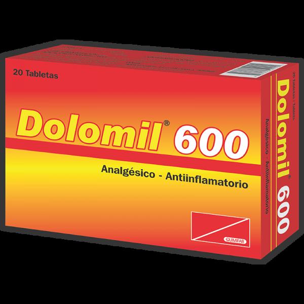 Dolomil Tableta 600 mg caja x20