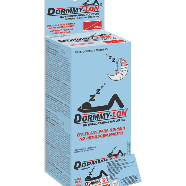 Dormmy-Lon 25 mg Dispensador 25 sobres x2 tabletas