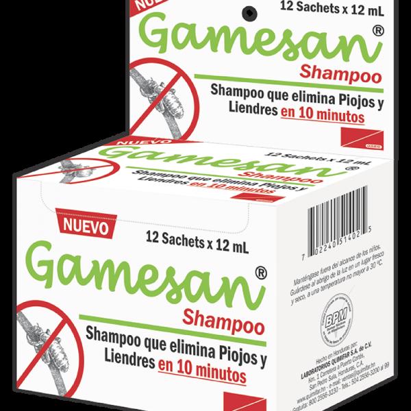 Gamesan Shampoo y Sachet (Sobre individual) 12 ml